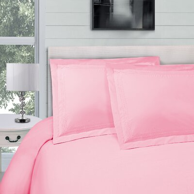 Bilbrey Infinity Embroidered 3 Piece Duvet Cover Set Color: Pink, Size: Full/Queen