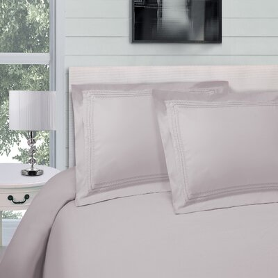 Bilbrey Infinity Embroidered 3 Piece Duvet Cover Set Color: Silver, Size: Full/Queen