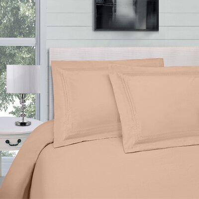 Bilbrey Infinity Embroidered 3 Piece Duvet Cover Set Color: Tan, Size: Full/Queen