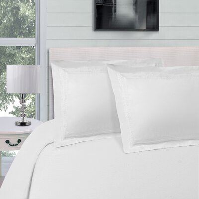 Bilbrey Infinity Embroidered 3 Piece Duvet Cover Set Color: White, Size: King/California King