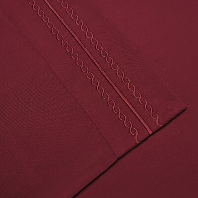 Bilbrey Infinity Embroidered Pillowcase Set of 2 Color: Burgundy, Size: Standard