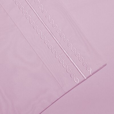 Bilbrey Infinity Embroidered Pillowcase Set of 2 Color: Lilac, Size: Standard