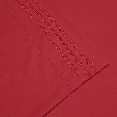 Bilbrey Infinity Embroidered Pillowcase Color: Red, Size: King