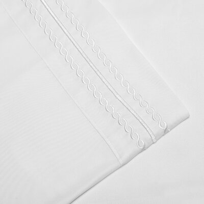 Bilbrey Infinity Embroidered Pillowcase Set of 2 Color: White, Size: Standard