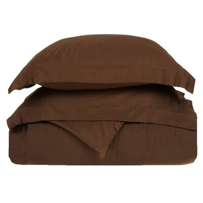 Rayland 400 Thread Count Quality Cotton Solid Duvet Cover Set Color: Mocha