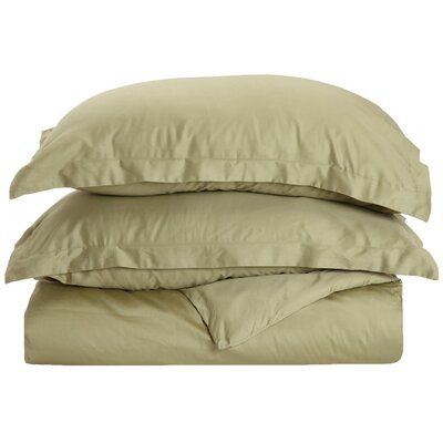 Rayland 400 Thread Count Quality Cotton Solid Duvet Cover Set Color: Sage