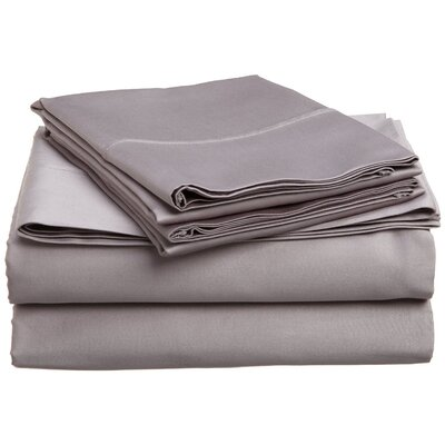 Larksville 400 Thread Count 100% Premium Cotton Sheet Set Size: Split King, Color: Gray