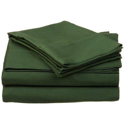 Cullen 400 Thread Count 100% Premium Cotton Sheet Set Size: Split King, Color: Hunter Green