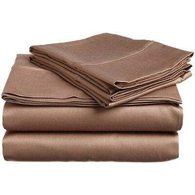 Cullen 400 Thread Count 100% Premium Cotton Sheet Set Size: Split King, Color: Mocha