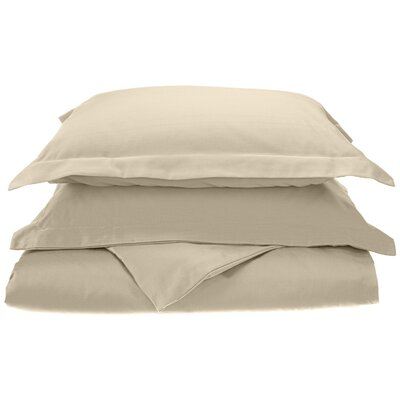 Cullen Cotton 3 Piece Duvet Cover Set Size: King/California King, Color: Stone