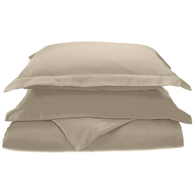 Cullen Cotton 3 Piece Duvet Cover Set Size: Full/Queen, Color: Ivory