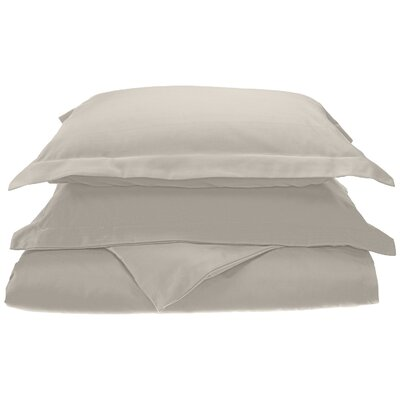 Larksville 800 Thread Count Cotton 3 Piece Duvet Cover Set Size: King/California King, Color: Silver