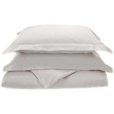 Larksville 800 Thread Count Cotton 3 Piece Duvet Cover Set Size: King/California King, Color: White