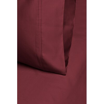 Larksville 800 Thread Count Cotton Pillowcase Size: 20 H x 30 W, Color: Burgundy