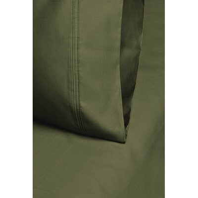 Cullen 800 Thread Count Cotton Pillowcase Size: 20 H x 30 W, Color: Sage