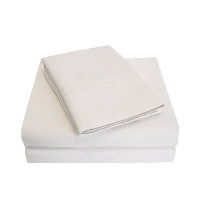 Cullen 800 Thread Count Cotton 6 Piece Sheet Set Size: Full/Double, Color: Ivory