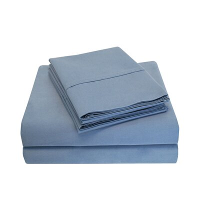Cullen 800 Thread Count Cotton 6 Piece Sheet Set Size: King, Color: Medium Blue