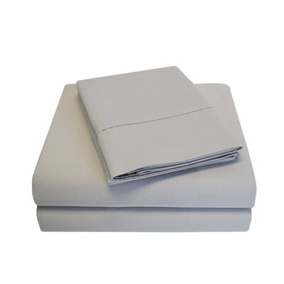 Cullen 800 Thread Count Cotton 6 Piece Sheet Set Size: King, Color: Silver