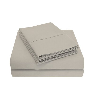 Cullen 800 Thread Count Cotton 6 Piece Sheet Set Size: Full/Double, Color: Stone
