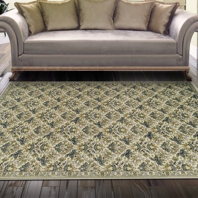 Andrea Beige Area Rug Rug Size: 5 x 8