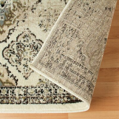 Hargrave Green/Beige Area Rug Rug Size: Rectangle 4 x 6