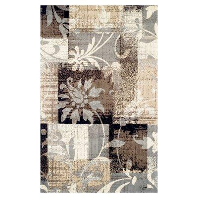 Yadira Brown/Gray Area Rug Rug Size: Rectangle 2 x 3