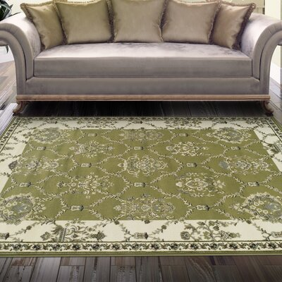 Anselm Olive Green Area Rug Rug Size: 5 x 8