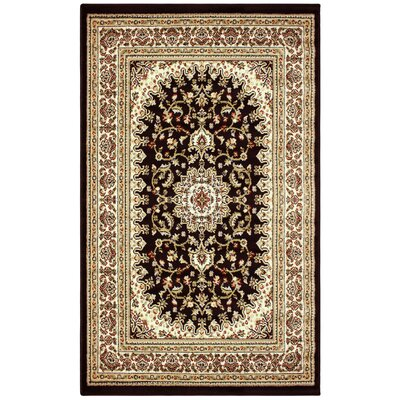 Zaha Black/Red Area Rug Rug Size: 8 x 10