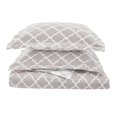 Lola Reversible Duvet Cover Set Size: King/California King, Color: Gray