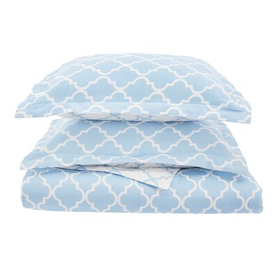 Lola Reversible Duvet Cover Set Size: Full/Queen, Color: Light Blue