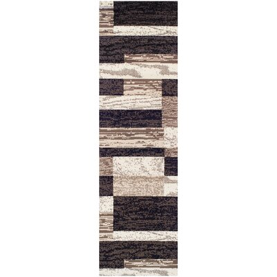 Audrey Chocolate Area Rug Rug Size: Runner 27 x 8