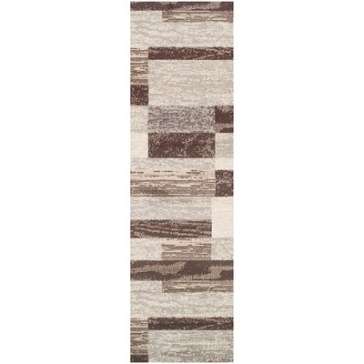Rita Beige/Brown Area Rug Rug Size: Runner 27 x 8