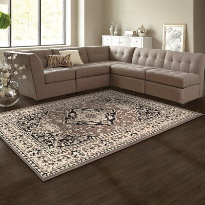 Glendale Brown Area Rug Rug Size: 4 x 6