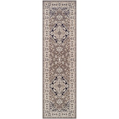 Vassar Brown/Beige Area Rug Rug Size: Runner 27 x 8