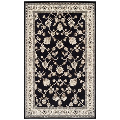 Cartensen Black/Beige Area Rug Rug Size: Rectangle 4 x 6
