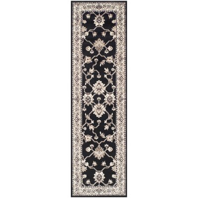 Dixfield Black/Beige Area Rug Rug Size: Runner 23 x 8