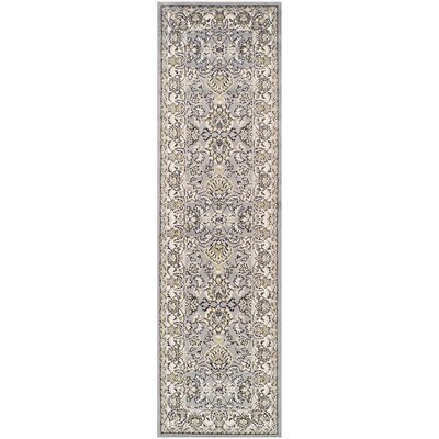 Lille Gray Area Rug Rug Size: Runner 23 x 8