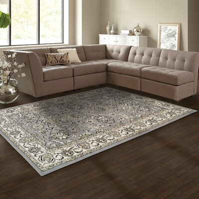 Vassar Gray/Beige Area Rug Rug Size: Rectangle 5 x 8