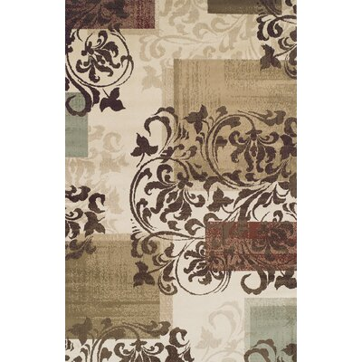 Verndale Traditional Beige/Brown Area Rug Rug Size: 4 x 6