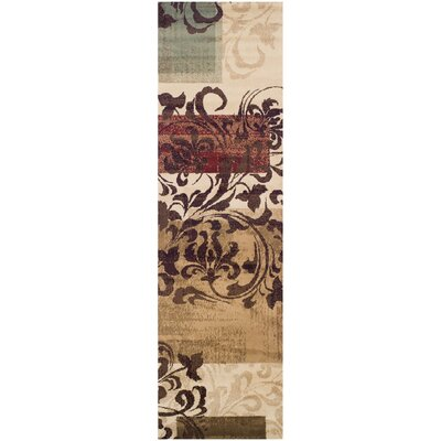 Verndale Traditional Beige/Brown Area Rug Rug Size: Runner 27 x 8