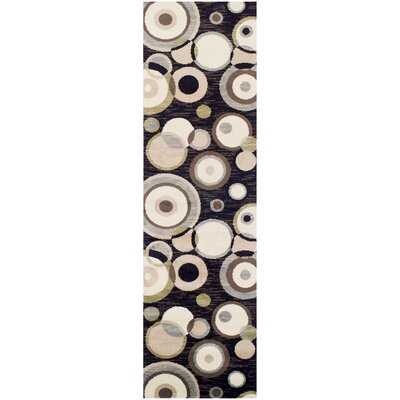 Bryleigh Black/Brown Area Rug Rug Size: Runner 27 x 8