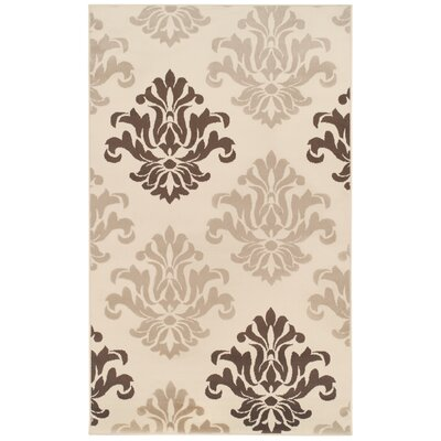 Catalpa Cream/Brown Area Rug Rug Size: 5 x 8
