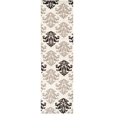 Catalpa Cream/Brown Area Rug Rug Size: Runner 27 x 8