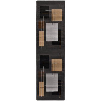 Matheus Black/Beige Area Rug Rug Size: Rectangle 27 x 8