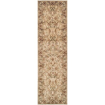 Avoca Ivory/Red Area Rug Rug Size: Rectangle 27 x 8