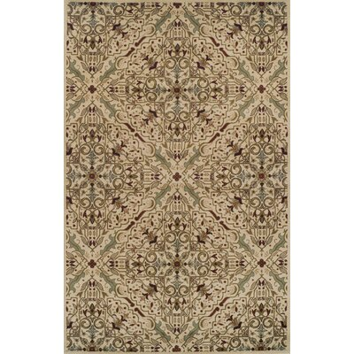 Bayliff Cream/Red Area Rug Rug Size: 5 x 8
