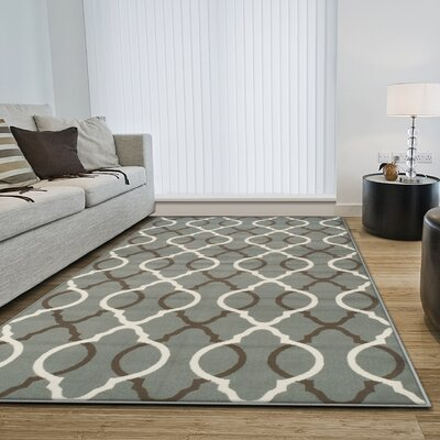 Joan Blue Indoor Area Rug Rug Size: Rectangle 5 x 8