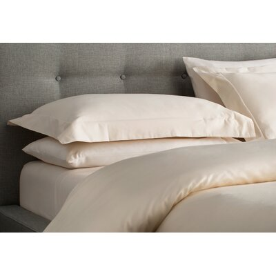 Superior Egyptian-Quality Cotton 3 Piece Duvet Set Color: Ivory, Size: King/California King