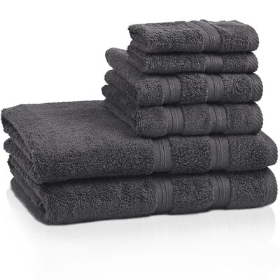 Smart Dry Zero Twist 6 Piece Towel Set Color: Gray