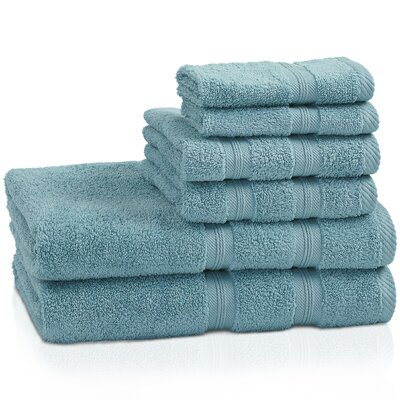 Smart Dry Zero Twist 6 Piece Towel Set Color: Turquoise